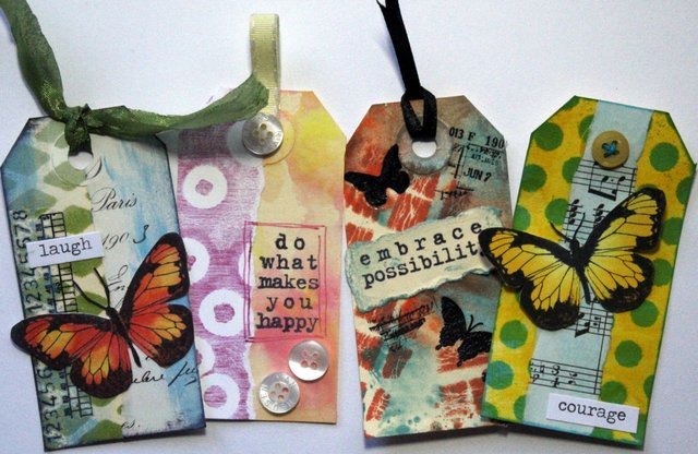 Robyn Wood - Mixed Media Tiny Tags