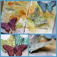 Becoming a Butterfly - An art journal page by Robyn Wood