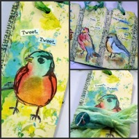 If Birds Could Talk - a tag booklet by Robyn Wood