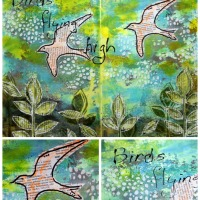 Birds Flying High - an art journal page by Robyn Wood