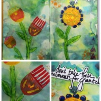 Take a Moment - Art Journal Page by Robyn Wood