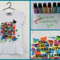 Paint a T-Shirt in 5 Minutes - Rochelle Melville