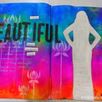 Beginners Art Journal Page with Rochelle Melville