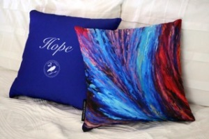 Hope art cushion