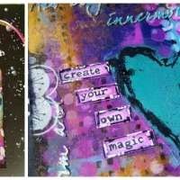 Mixed Media Art Tag with Kathryn Cruise