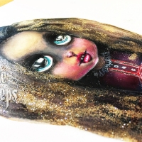 She Creeps - Mixed Media Painting by Laurie Caradonna