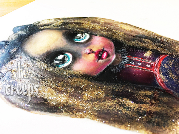 My Little Creatures_She Creeps Mixed Media Art Lesson