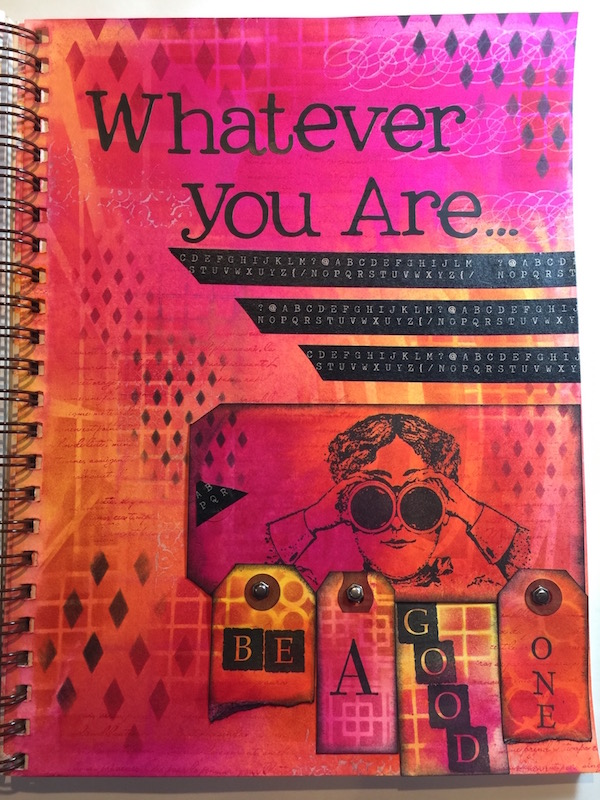 Art Journal with Dylusions Ink Sprays (Marjie Kemper)