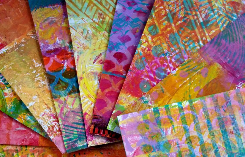 Gelli print display
