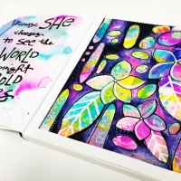 Creating a Boldly Coloured Art Journal Page