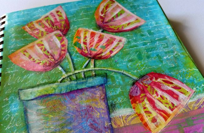 Luluarts dt 2017 Happy Gelli Flowers detail