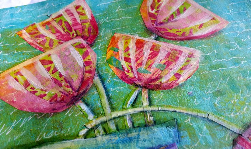 Luluarts dt 2017 Happy Gelli Flowers upclose