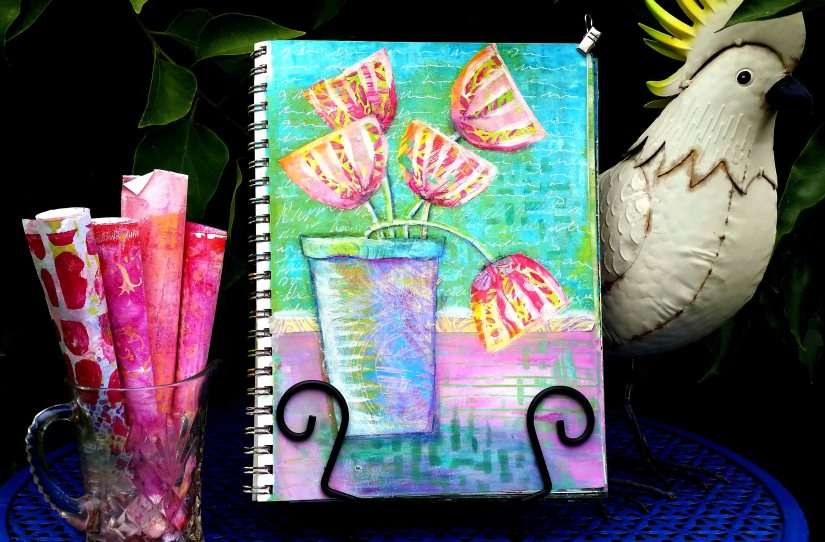 Luluarts dt 2017 Happy Gelli Flowers