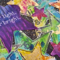 Star light, Star bright: mixed media girl.