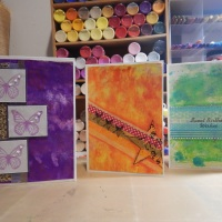 Warren Creations - Gelli Plate & Washi Tape Cards
