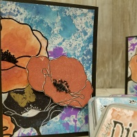 Mixed Media Cards Using Distress Oxides by Idiana's Creations