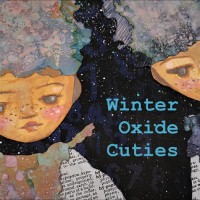 Winter Oxide Cuties - Mixed Media Art Journal Page with Distress Oxide Ink Pads
