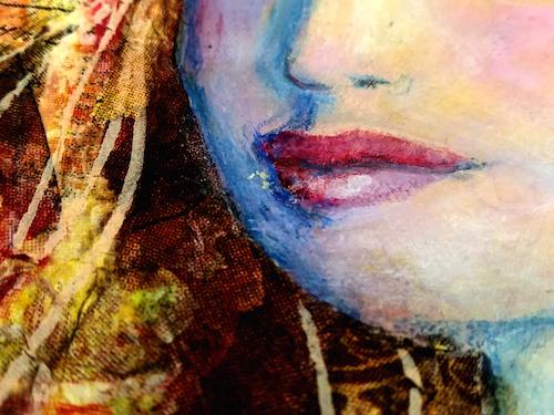 Stencil face mouth detail