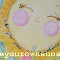 Make your own Sunshine - mixed media illustration