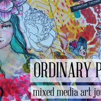 Ordinary People - Mixed Media Art Journal Page