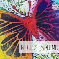 Butterfly - Mixed Media Art