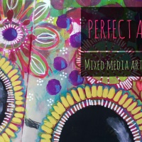 Perfect Attitude - Mixed Media Art Journal Page