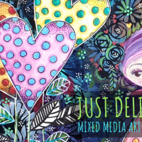 Just Delightful - Mixed Media Art Journal Page