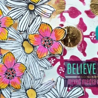 Believe - Mixed Media Art Journal Page